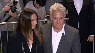 EXCLUSIVE : Dustin Hoffman and wife arriving at Chanel x Vanity Fair party at Tetou in Cannes