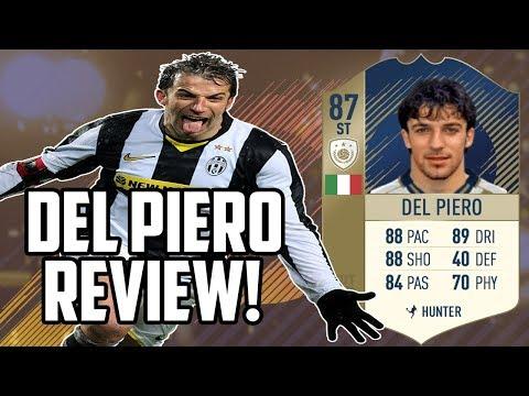 87 Del Piero Icon Card Review - FIFA 18 Ultimate Team