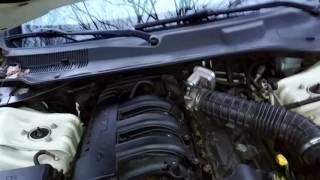 How check the transmission fluid in a 2008 Chrysler 300 2.7 liter V6