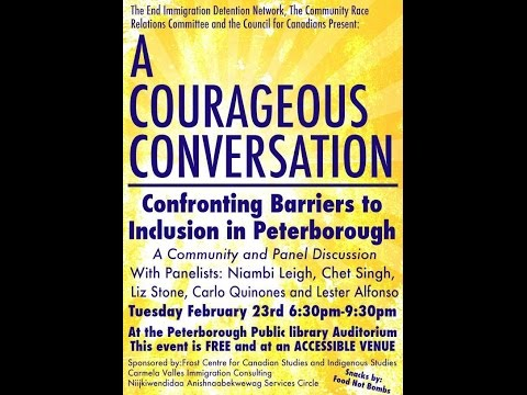 A Courageous Conversation Confronting Barriers to Inclusion in Peterborough - Part 2
