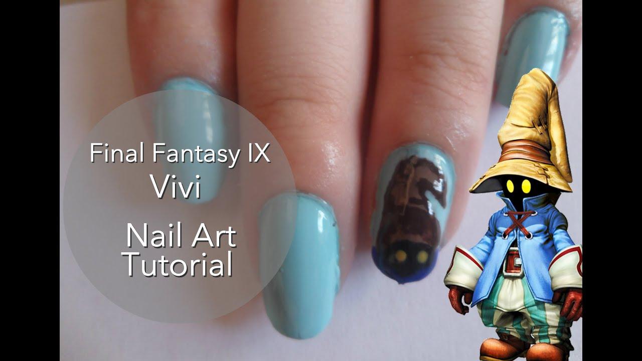 Final Fantasy IX: Vivi Nail Art Tutorial - YouTube