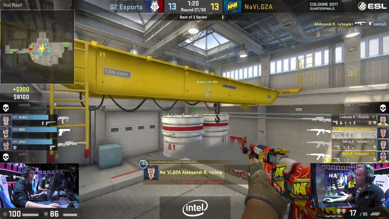 ESL Cologne 2017 - S1mple 4k With AK