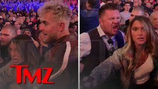 Jake Paul And Julia Rose Are Confronted By Man At Fury-Wilder Fight