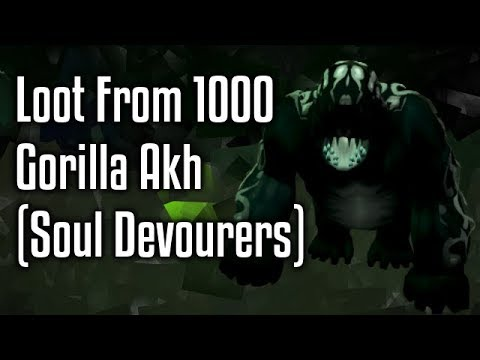 RS3 - Loot from 1000 Gorilla Akh (Soul Devourers)