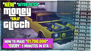 Best SOLO Easy MONEY GLITCH *AFTER PATCH* $1,700,000 In 2 Minutes! (GTA 5)