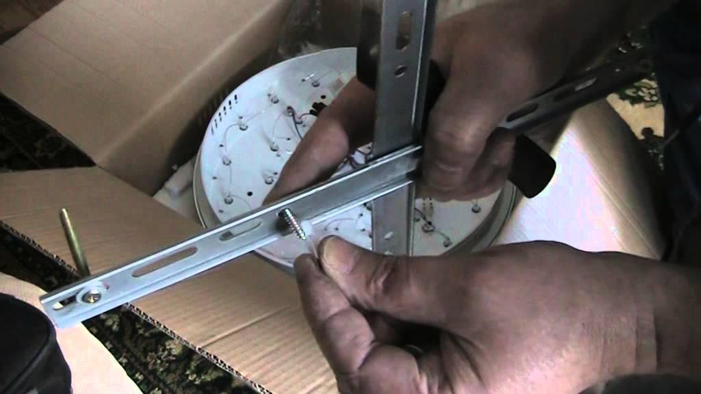Как установить светодиодную люстру с дистанционным управлением