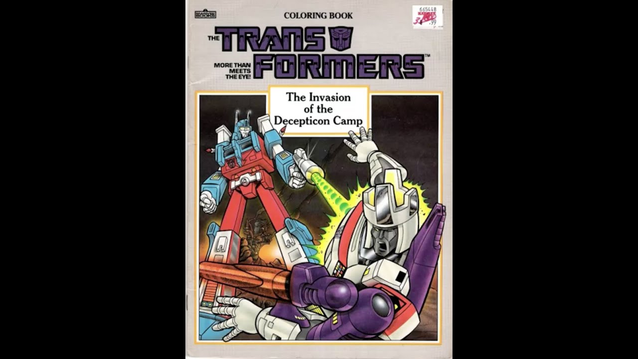 transformers coloring book invasion of the decepticon camp youtube
