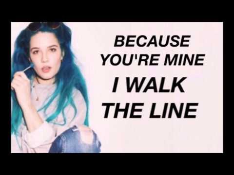 I WALK THE LINE LYRICS - HALSEY (STUDIO VERSION) (read the description pls)