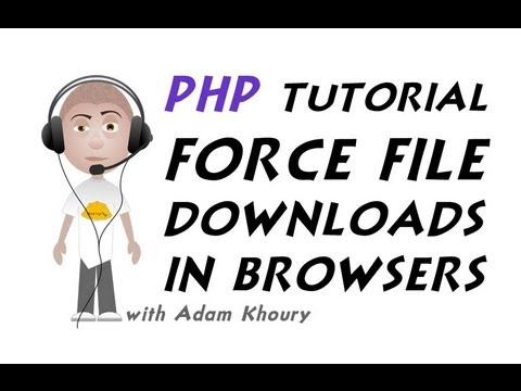 PHP Force Any File To Download In Browser Tutorial