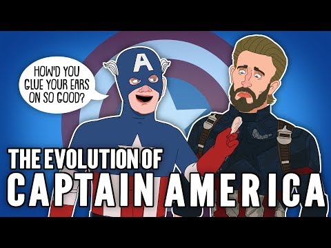 The Evolution Of Captain America (Animated)