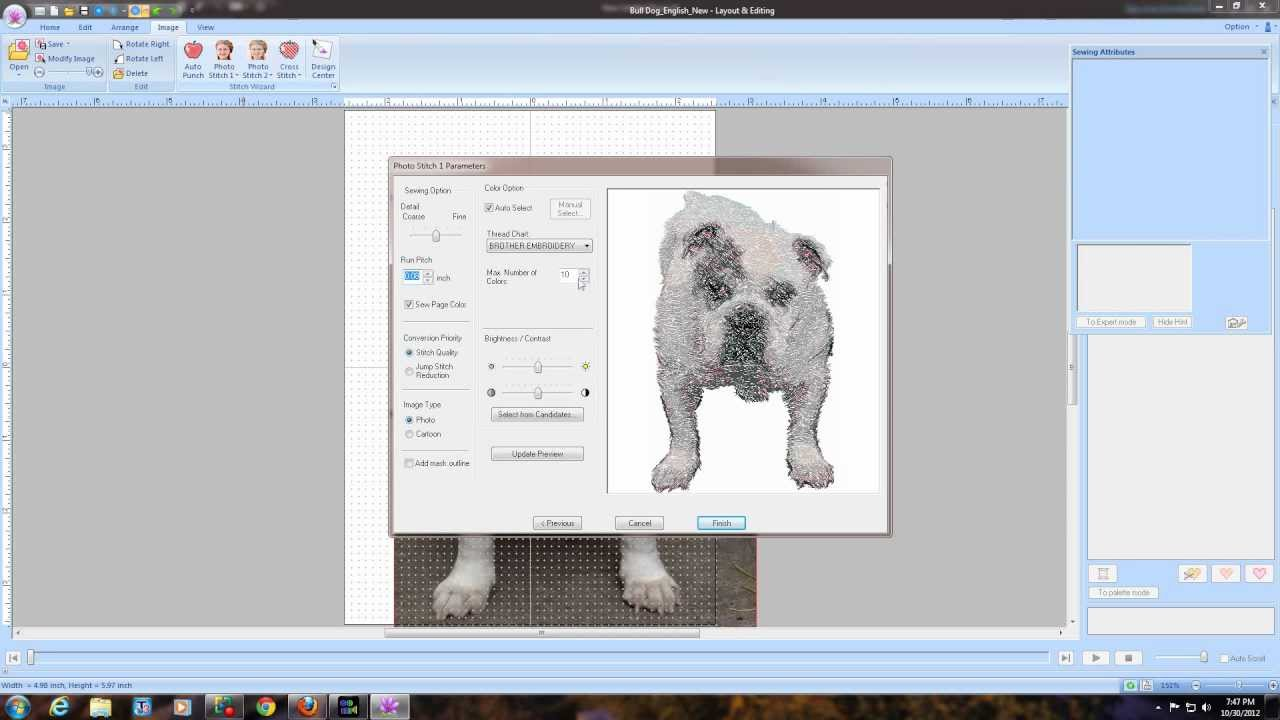 Brother Pe Design Next Digitizing Software Bulldog Tutorial Youtube