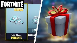 GIFTS WITH SOUND AT FORTNITE AND HOW TO TAKE THE BACKPACK AND PLAY WITH SKIN NOOB