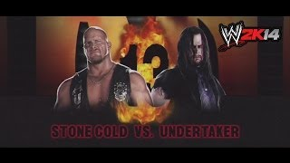 WWE 2K14 | Stone Cold Steve Austin vs Undertaker | WrestleMania 13