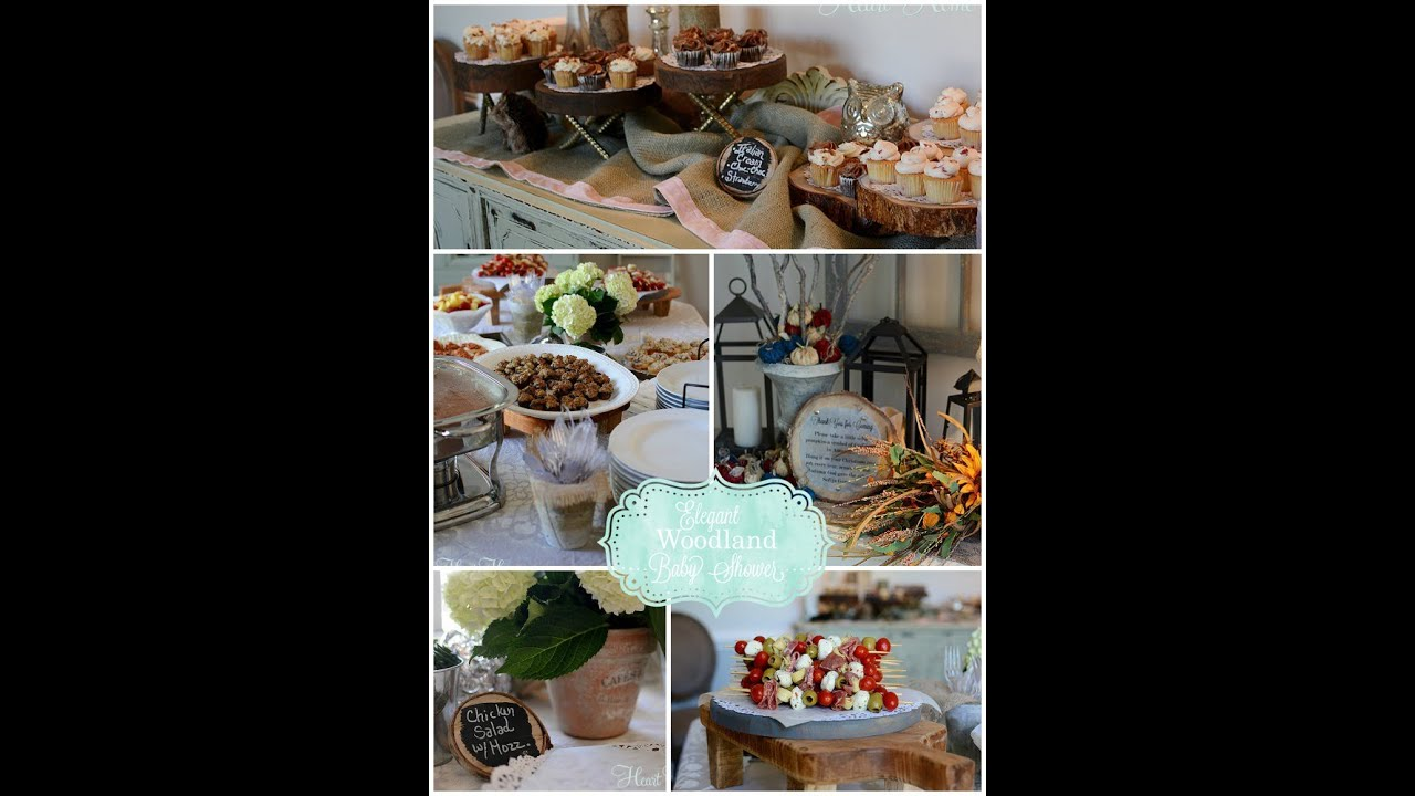 woodland themed baby shower youtube
