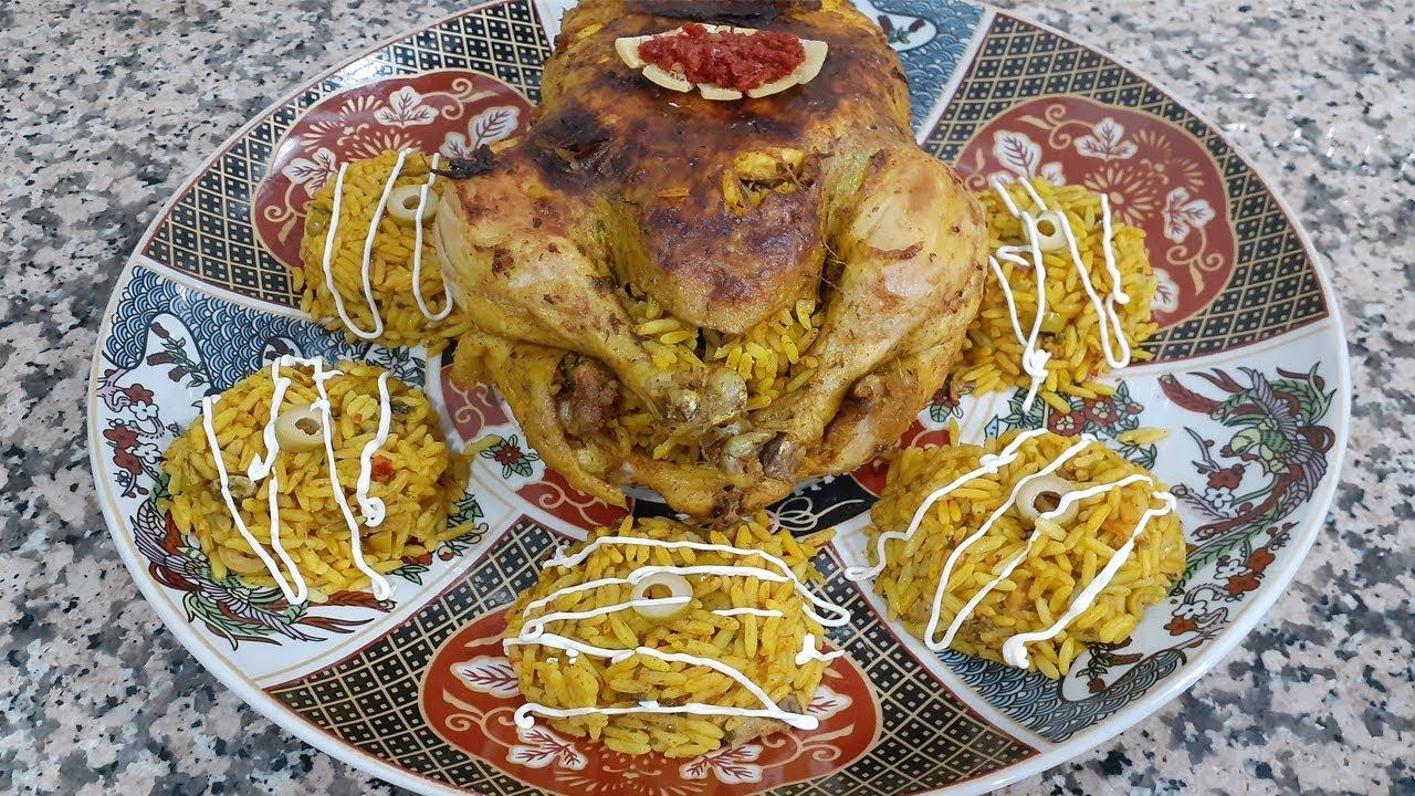 دجاج معمر بالروز ومبخر ومحمر في الفرن لذييذ جدا 😋😋