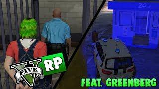GTA 5 RP | Stikker af og slår en betjent ned! | ft. Greenberg