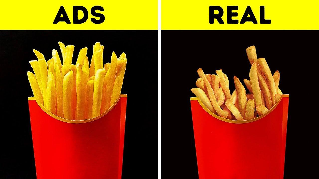 אוכל מעובד בתעשיית המזון vs.בחיים האמיתיים
