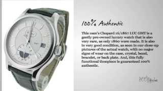 View this pre owned Chopard 16/1867 LUC GMT 18k White Gold Automatic Watch