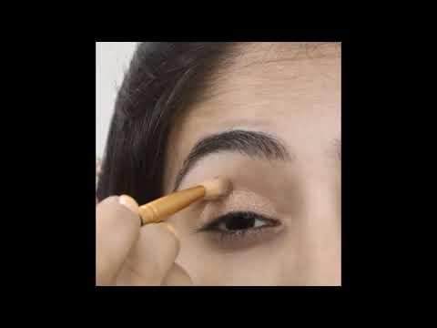 Two-color Eyeshadow for Defined Eyes   How to Apply Eyeshadow   Medium Skin-tone