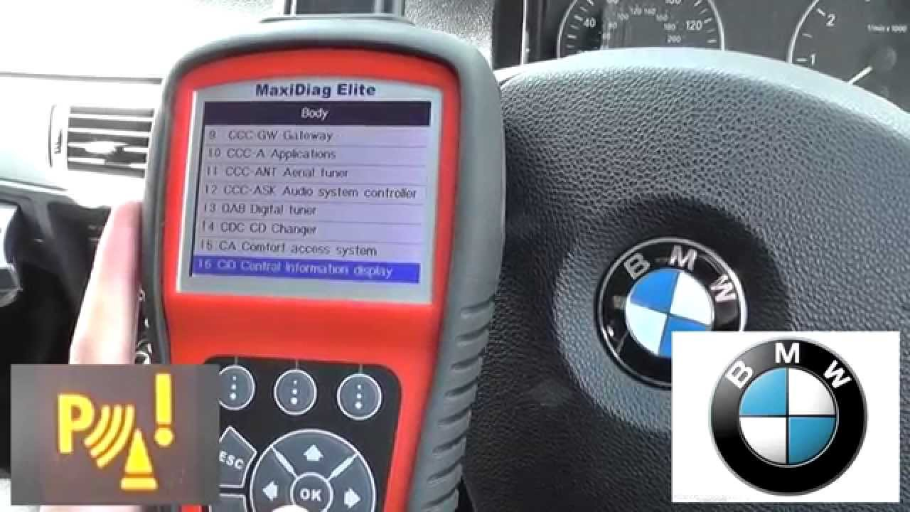 BMW PDC Fault Diagnose & Reset Parking Sensor Warning Light Dash ...