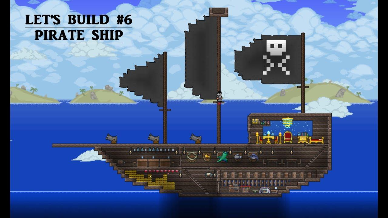 лодка в террарии