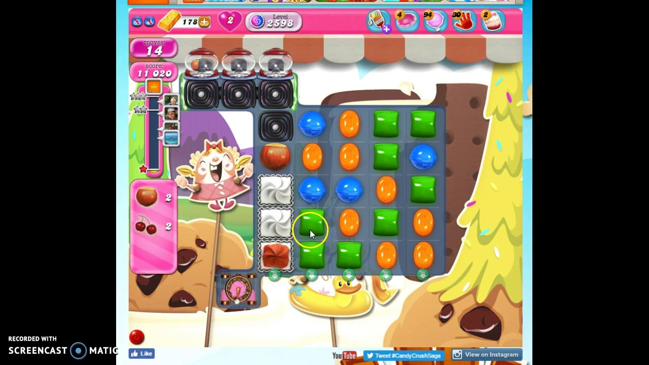 Candy Crush Saga Level 2598 Help Solutions And More Gogamerez