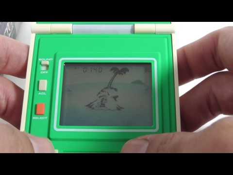 18147 Bandai LCD Game Solar Power Kyofu No Mujinto (Shark Islands)