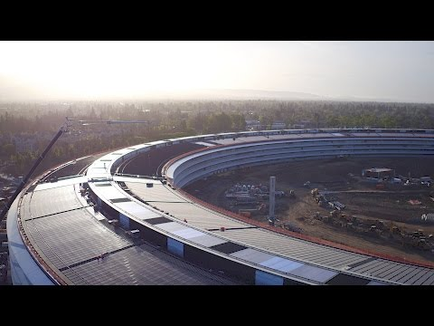 Drone footage gives you a breathtaking glimpse of Apple campus