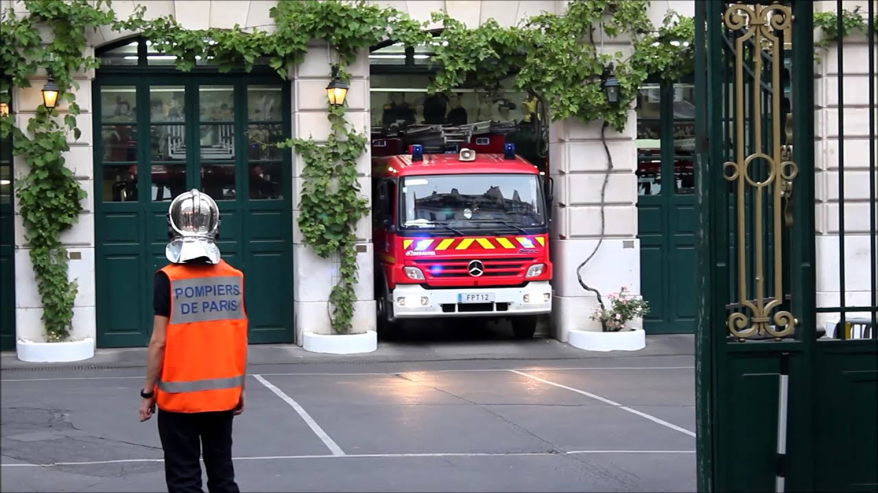 bspp cs blanche fpt12 d part en intervention truck 12 fire department paris to a call youtube. Black Bedroom Furniture Sets. Home Design Ideas