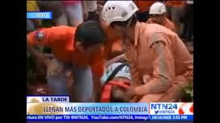 drama en la frontera mujer se desmaya ante las cmaras de ntn24 tras ser deportada de venezuela