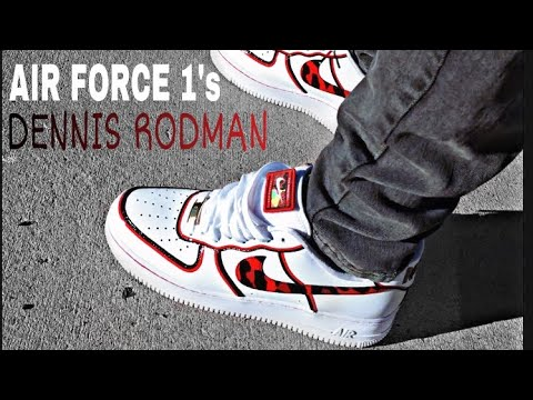 NIKE AIR FORCE 1 DENNIS RODMAN REVIEW & on FEET (Red leopard