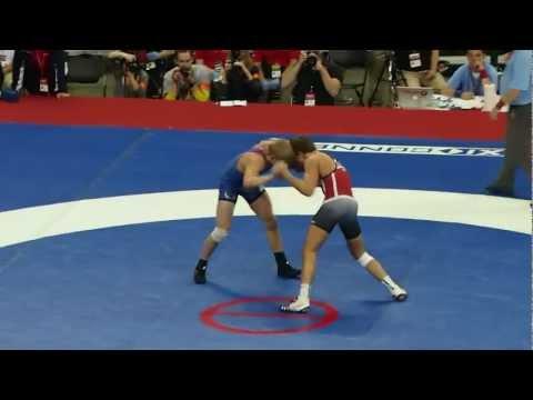 Kyle Dake vs David Taylor 2nd period - 2012 Olympic Trials HD