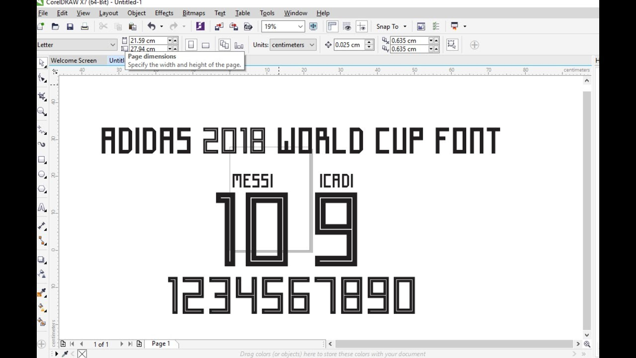 adidas 2018 world cup font
