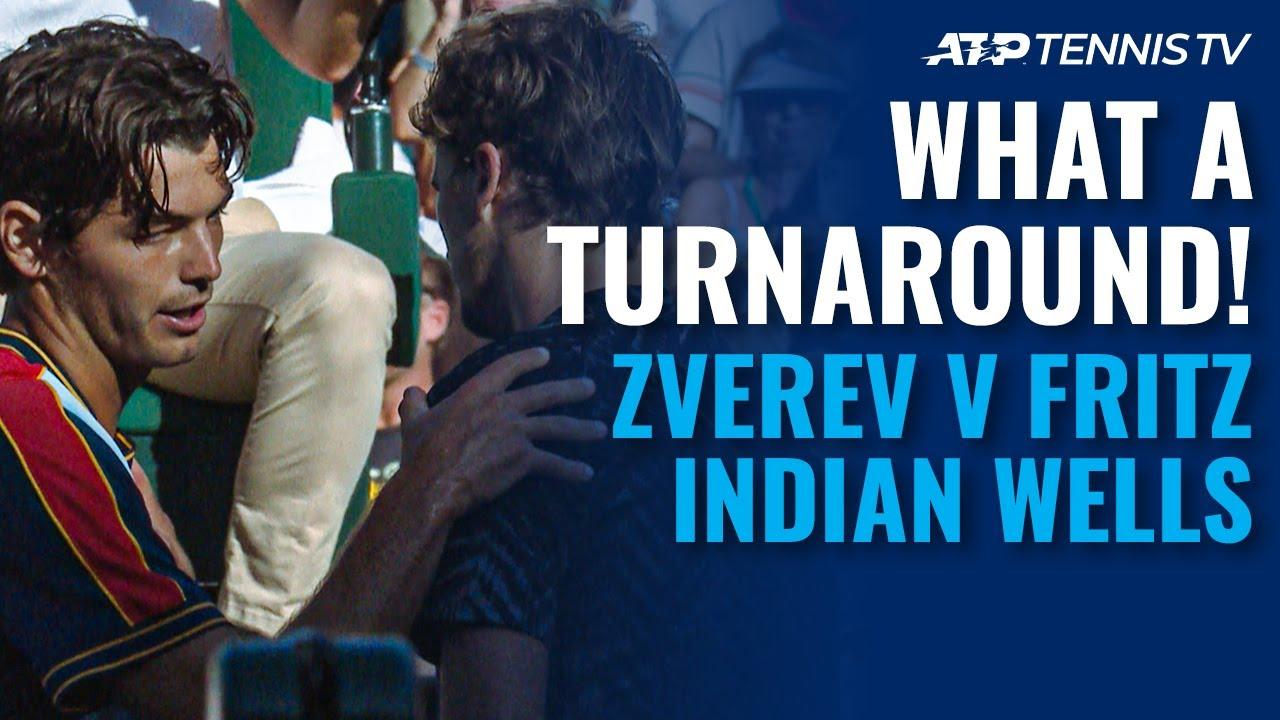 Dramatic End to Alexander Zverev vs Taylor Fritz! 😳 Indian Wells 2021 Quarter-Final