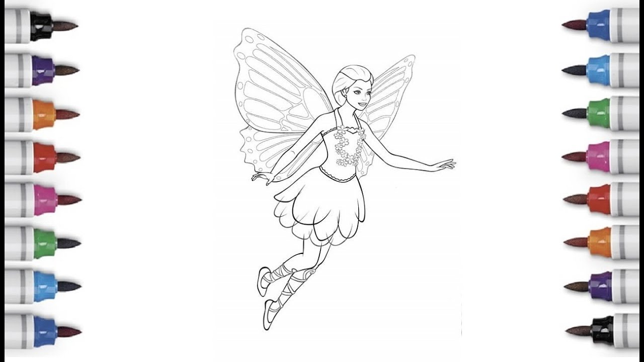 BARBIE MARIPOSA coloring pages - 20 online Mattel dolls printables ... | 720x1280