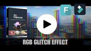 How to make glitch effect in Wondershare Filmora --RGB GLITCH  EFFECT