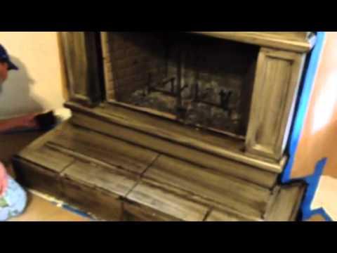 Antique Glazing Concrete Fireplace Mantle
