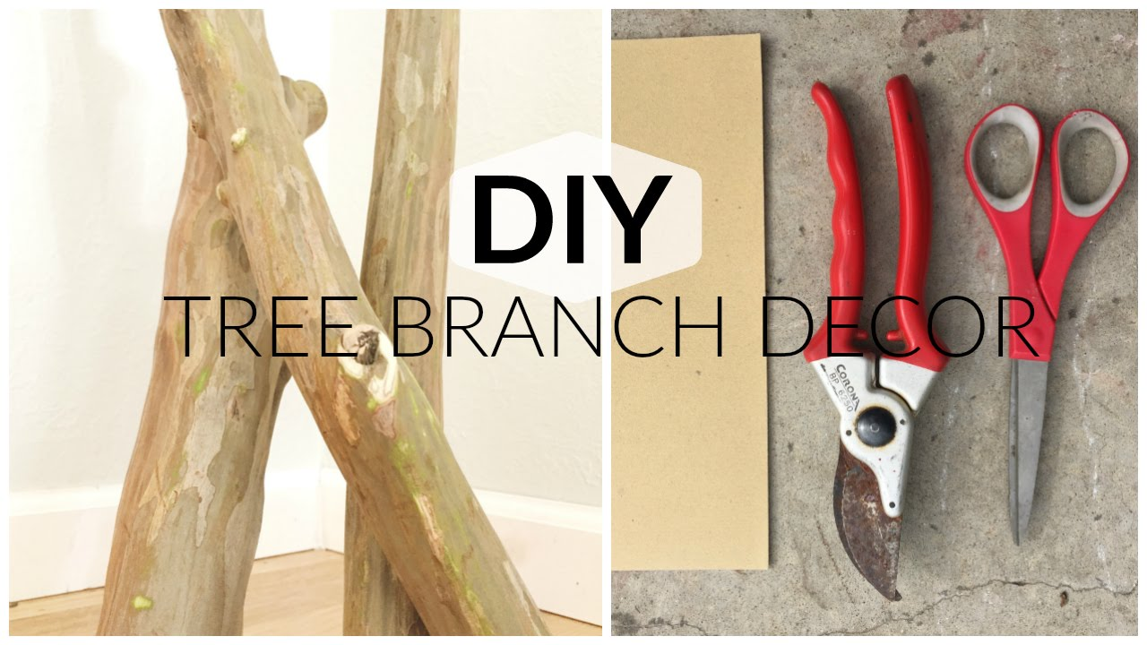 Tree Branch Decor Part 1 - YouTube
