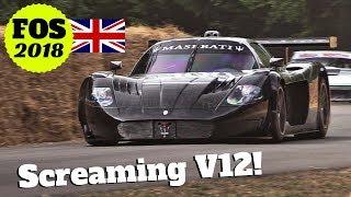 "Maserati MC12 Corsa ""Goodwood Cent 100"" - Screaming V12 Engine! - 2018 Goodwood Festival of Speed"