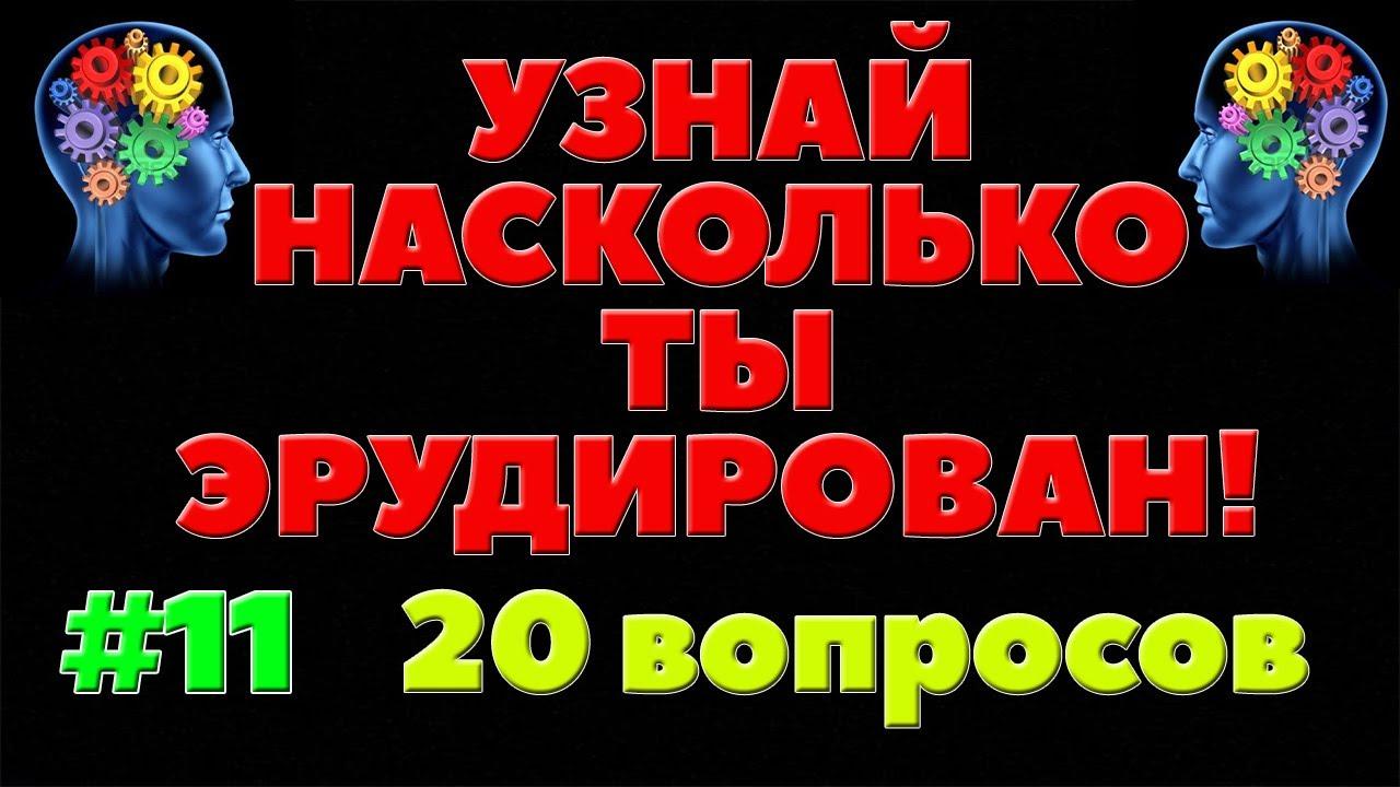 УЗНАЙ НАСКОЛЬКО ТЫ ЭРУДИРОВАН (ТЕСТ) - выпуск 11