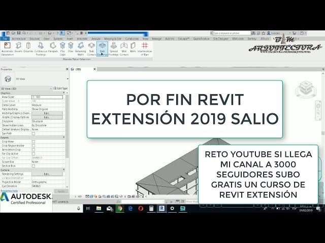 Revit Extension 2019 por sale a la luz