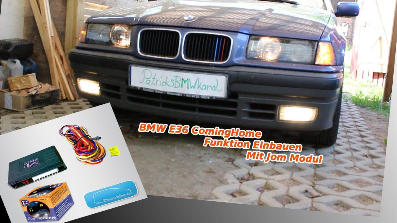 BMW E36 ComingHome Einbauen Mit Jom Modul - YouTube