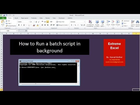 Run Batch script in background | Jenkins in background | Excel VBA Tips &  Tricks