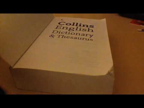 Review: Collins english dictionary and thesaurus