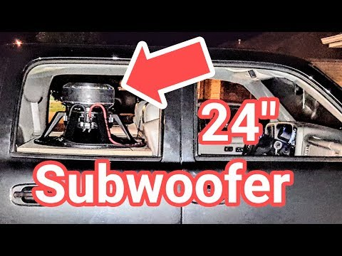 """NOW PLAYING 24"""" Subwoofer Car Audio Demo"""