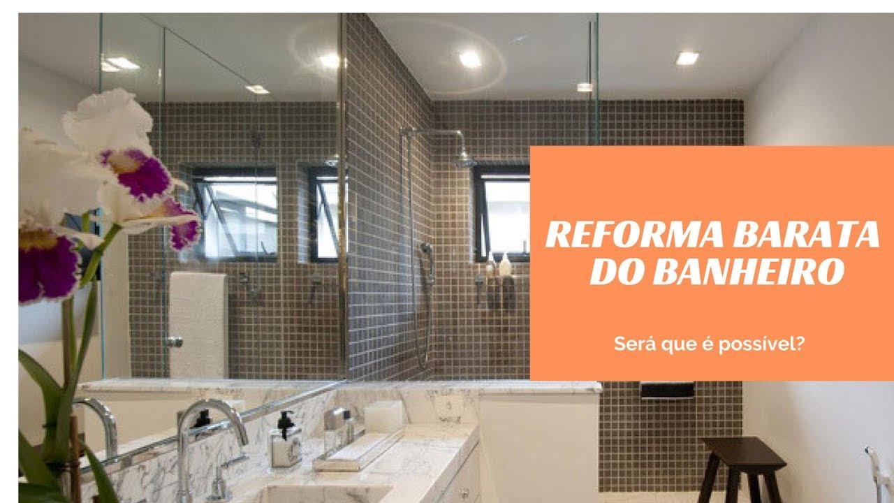Reforma Barata ~ Dicas para reforma do banheiro barata YouTube