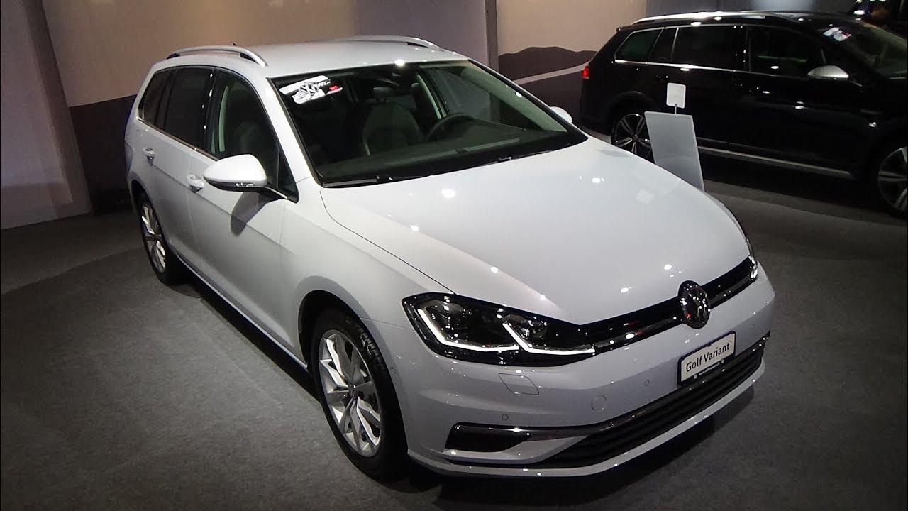 volkswagen golf variant highline swissline exterior  interior auto zuerich car show