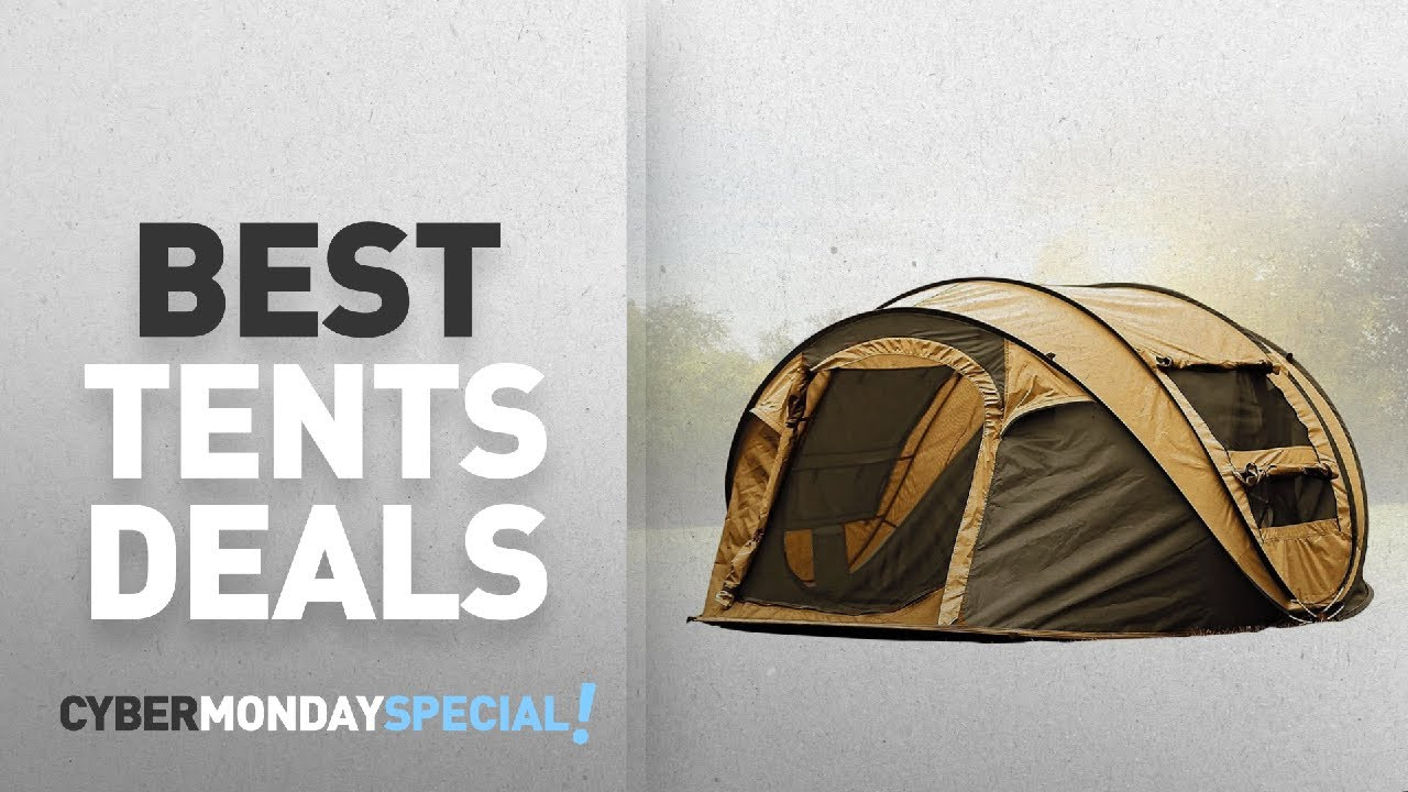 Top Cyber Monday Tents Deals FiveJoy Instant Pop Up Tent - 4-Person Family Sun Dome - Easy & Top Cyber Monday Tents Deals: FiveJoy Instant Pop Up Tent - 4 ...