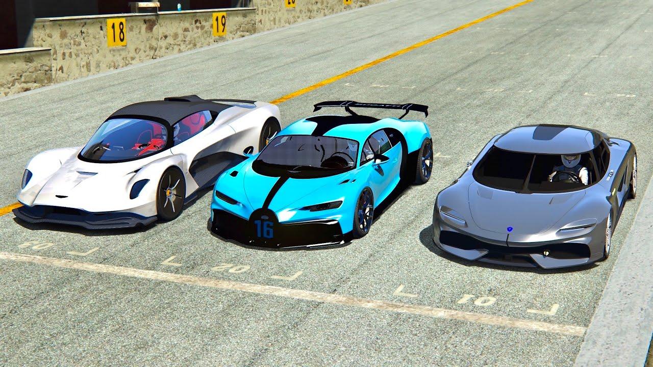 Koenigsegg Gemera Vs Aston Martin Valhalla Vs Bugatti Chiron Pur Sport Laguna Seca Youtube