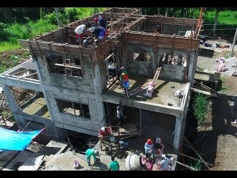 "VILLA FELIZ - EPISODE 124: THE LAST OF THE ""BIG"" POURS (House Building in the Philippines)"